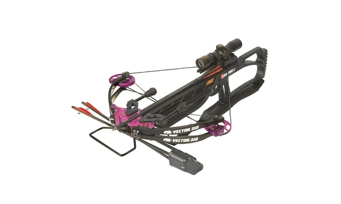 PSE Vector 310 Black with Purple Accents Crossbow Package