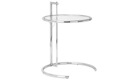 Eileen Gray Side Table in Silver 961a5462-9723-40f1-9df0-1e46cb40d24c