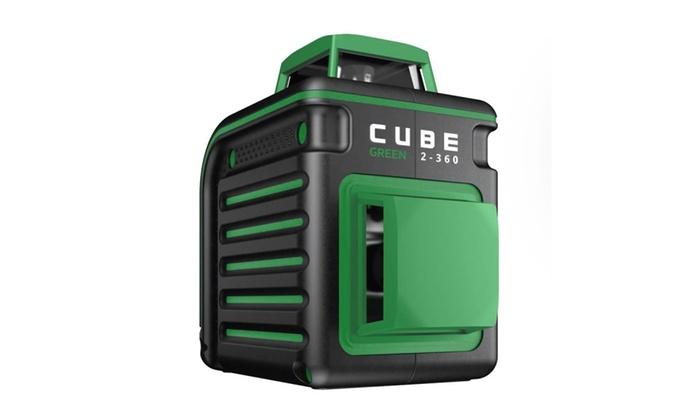 Cube Green 2-360 Degree Horizontal & Vertical Cross Line Laser