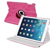 Insten For iPad Air 360 Swivel Stand Leather Case Hot Pink Sleep Wake