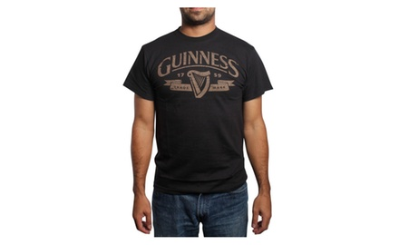 Classic Guinness T Shirt-Brown