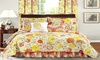 All American Collection New 6pc Printed Reversible Bedspread