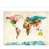 Michael Tompsett 'Watercolor World Map' Canvas Rolled Art