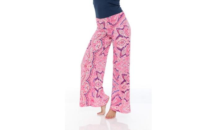 Pink Paisley Printed Palazzo Pants