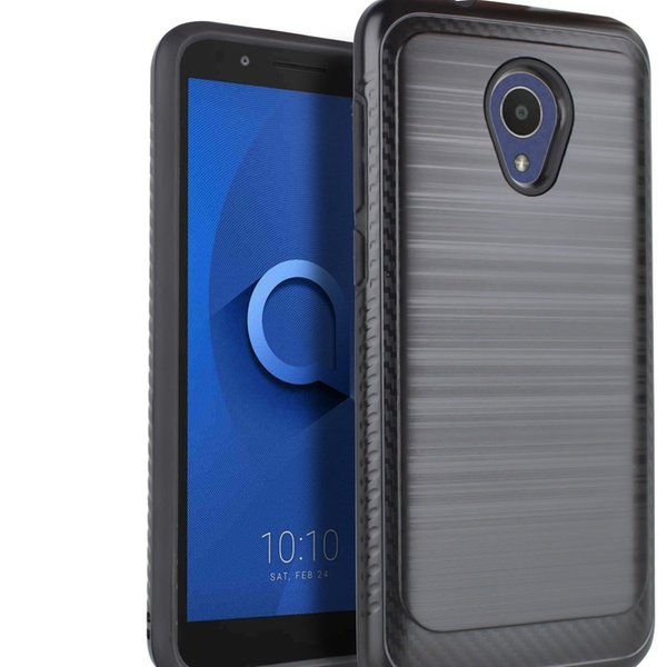 Alcatel 1X Evolve/TCL LX/G7/ideal Xtra Brushed Phone Cover with Screen  Protector