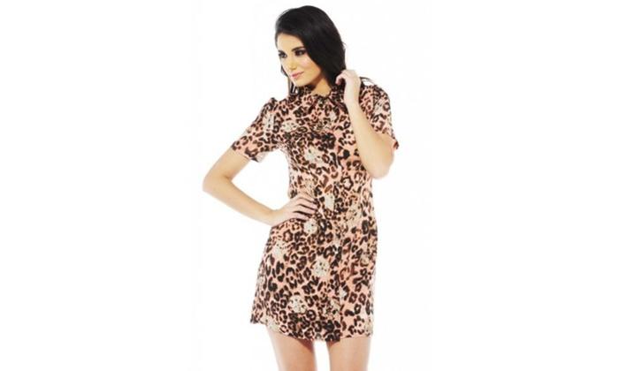 AX Paris Floral Leopard Shirt Dress