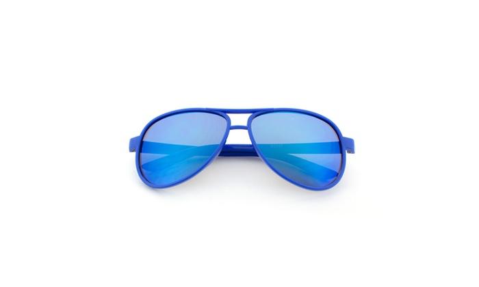MLC EYEWEAR Kid's Plastic Aviator REVO Lens Sunglasses