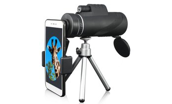 40x60 Zoom Monocular HD Telescope Telephoto Camera Lens  Phone Holder  Tripod