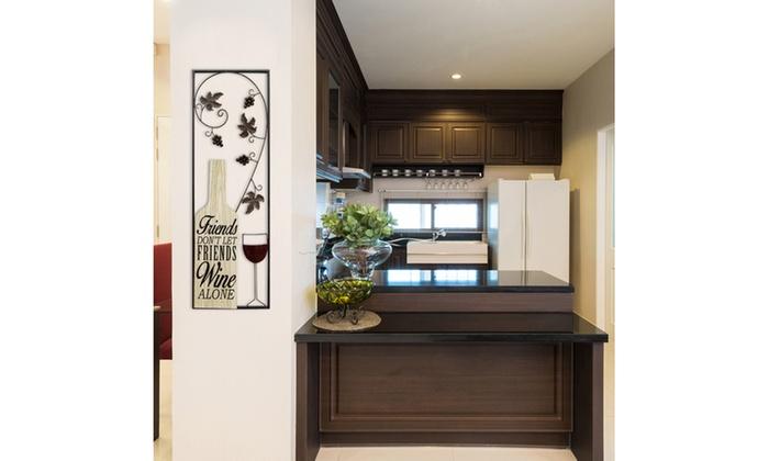 Stratton home decor wine panel wall decor groupon for Home decor deals