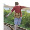 Vintage Unisex Canvas Satchel Shoulder Bag/Messenger Bag/Cross-Body Bag
