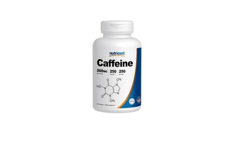 Unisex Caffeine Energy / Weight Loss Pills, 250 Capsules