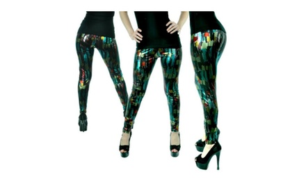 Contemporary Printed Foil Leggings