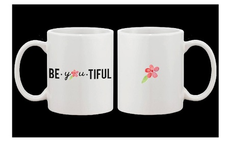 Beautiful Floral Design Simple 11oz Ceramic Coffee Mug Cup Gift 8f8e90f5-da69-47a6-ad8b-13acf09f069e
