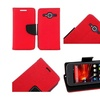 Insten Leather Fabric Case stand For ZTE Concord II Z730 Red