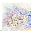 Flowers, Leaves Watercolor Art Floral Metal Wall Art 28x12