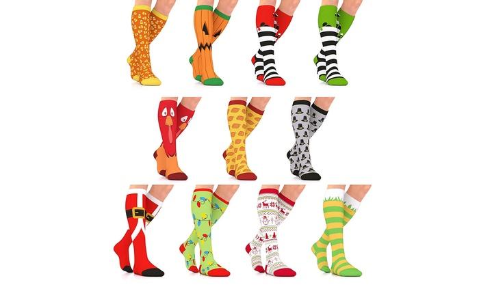 ec495947a6e Go2Socks GO2 Holiday Compression Socks Women Men Nurses Runners 15-20 mmHg