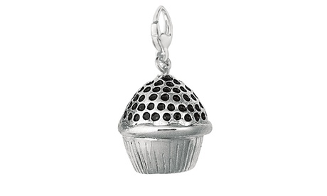Sterling Silver Women's MULTI COLOR ENAMEL CUP CAKE Clip-on Charm 8e674c2b-0ab3-401f-8d68-2a8dc622b3f6