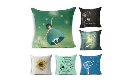 Dandelion & Sunflower Cotton Linen Throw Pillow Case Cushion Cover cef82d63-ec0d-4183-b027-043c5e44d8c1