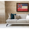 Mississippi State Textured Flag Home Office Wall Décor Gift Idea 6086