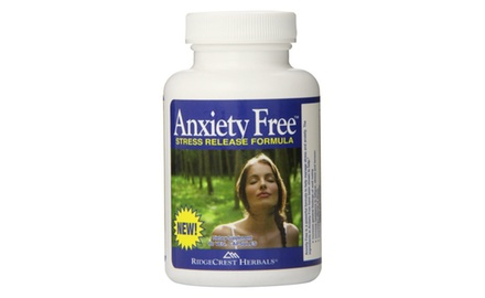 Ridgecrest Anxiety Free Herbal and Nutrition Stress Support, 60 Vegetarian Capsules