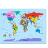 Michael Tompsett 'Childrens World Map' Canvas Art