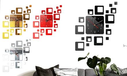 Modern DIY Home 3D Number Mirror Wall Sticker Art Clock Living Room Home Decor