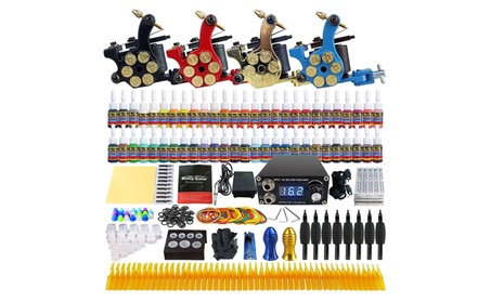 Complete Tattoo Kit Set 4 Machine Gun 54 Ink Color Needle Power Supply 90dce995-7986-4046-8f2b-1991bf23d7d7