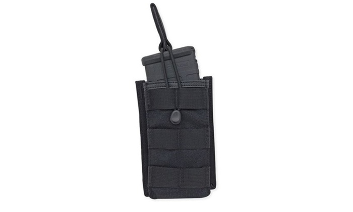 Single Rifle Mag Pouch  Open Top  Short  Black