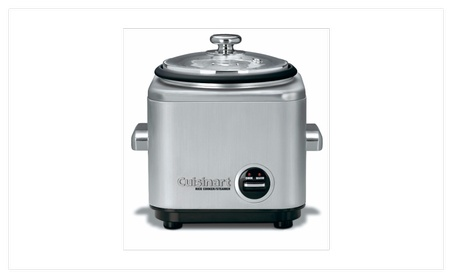 BrandNew Cuisinart StainlessSteel 4Cup Rice Cooker: ModelNumber CRC-400 e9307e2f-04fa-4590-9cdf-e6a2b7b56a34
