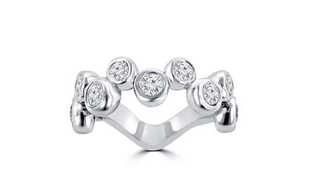 1.55 ct Ladie's Round Cut Diamond Anniversary Wedding Band in 14 kt White Gold