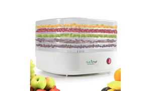NutriChef Electric Countertop 5-Tier Food Dehydrator and Preserver