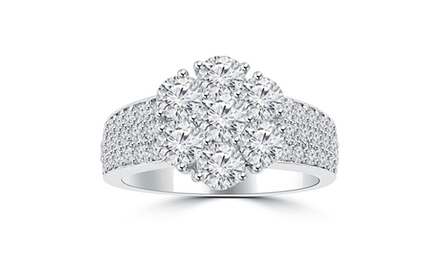 2.00 ct Ladies Round Cut Diamond Anniversary Ring in Prong Setting