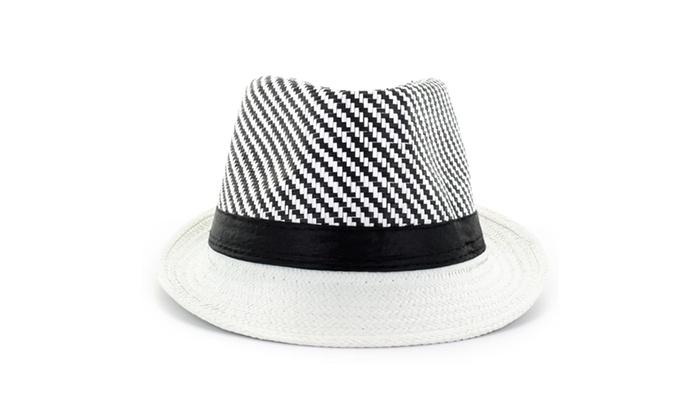Faddism Fashion Fedora Hat in White