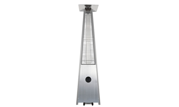 dancing flame stainless steel table top pyramid outdoor patio heater