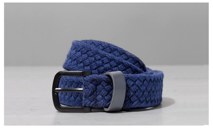 The Basic – Blue or Black Woven Belt