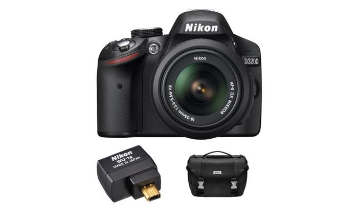 D3200 24.2 MP CMOS Digital SLR Camera with 18-55mm VR Lens Refurbished – M