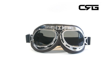 CRG Vintage Bike Aviator Style Motorcycle Cruiser Scooter Goggles T08STD