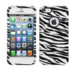 Insten Zebra Skin Case (with Decorative Rings) For iPhone 5s