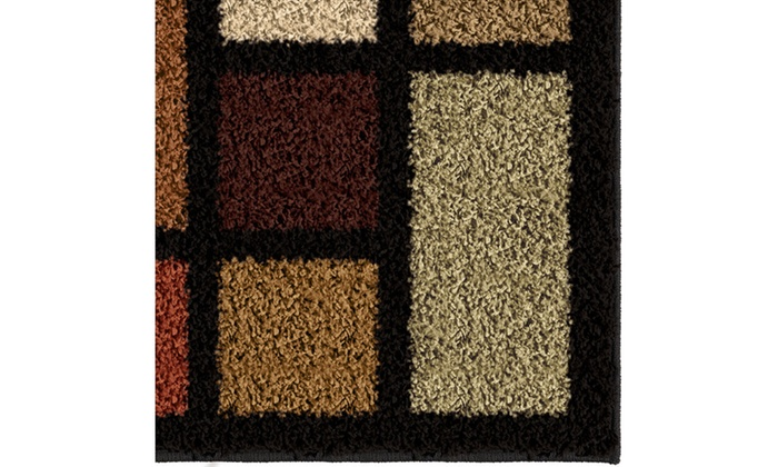 Color Grid Area Rug Groupon