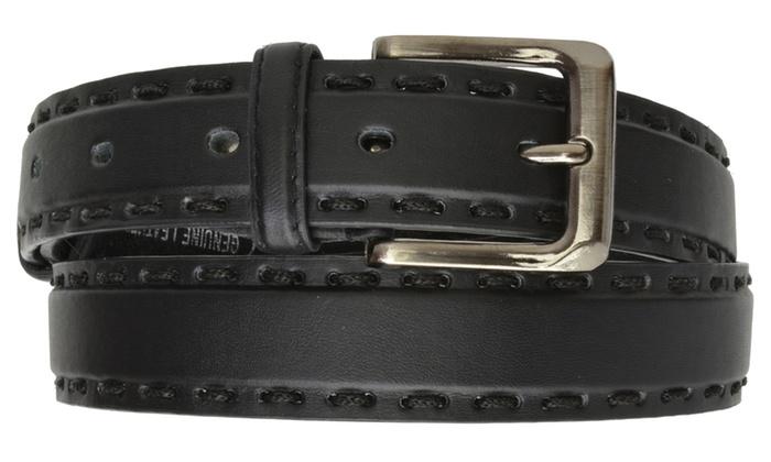 AFONiE Genuine Leather Belt with Buckle