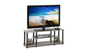 Furinno Turn-N-Tube Easy-to-Assemble 3-Tier Entertainment TV Stand