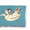 Carla Martell Boy on Bird Canvas Print