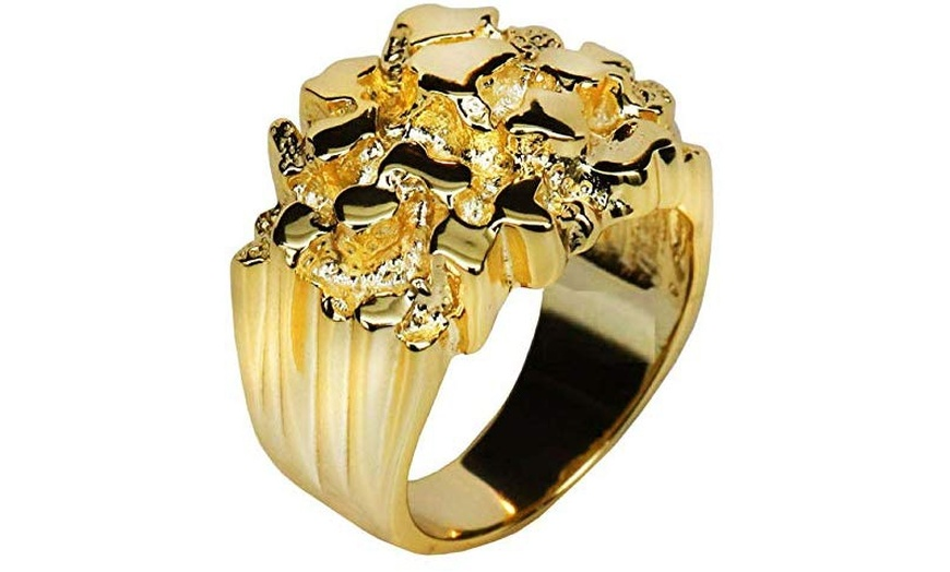 Nugget ring Gold 14k man/'s size 9 10 11 12 13