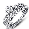 Crystal Compatible European 925 sterling Silver Ring