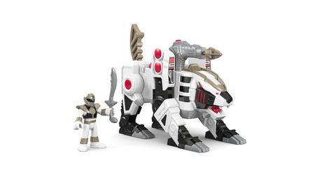 Fisher-Price Imaginext Power Rangers White Ranger and Tiger Zord 563b2515-6224-45b1-84ad-f4def857923a