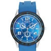 Unlisted by Kenneth Cole Men's Blue Silicone Strap Analog Watch
