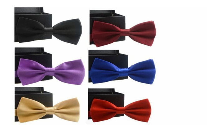 Male solid bow tie