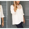Geo-Yoke Tassel Peasant Top