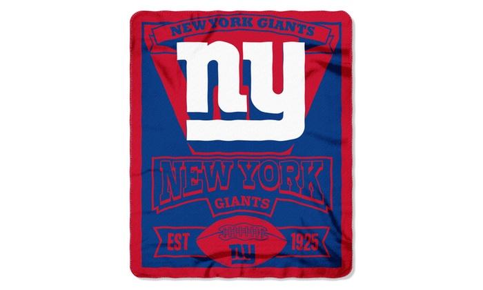 NFL 031 NY Giants Marque Fleece Throw