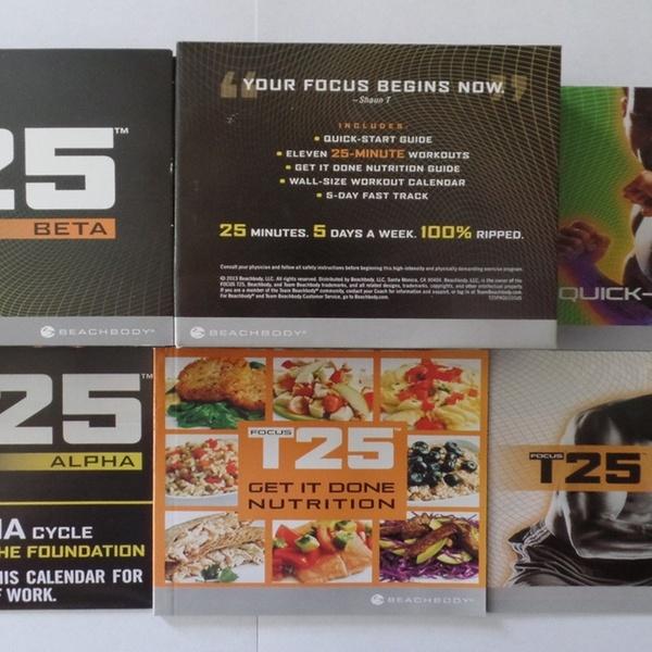 Focus T25 Full 14 Dvd Deluxe Fitness Workout Set - Bonus Gamma Program  Included!
